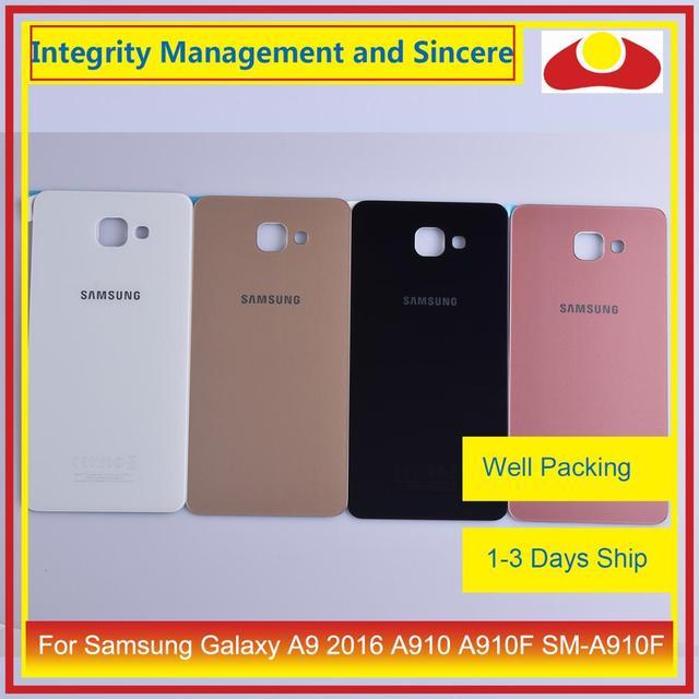 Oryginał do Samsung Galaxy A9 Pro A910 A9100 A910F obudowa klapki baterii tylna część obudowy obudowa Shell wymiana