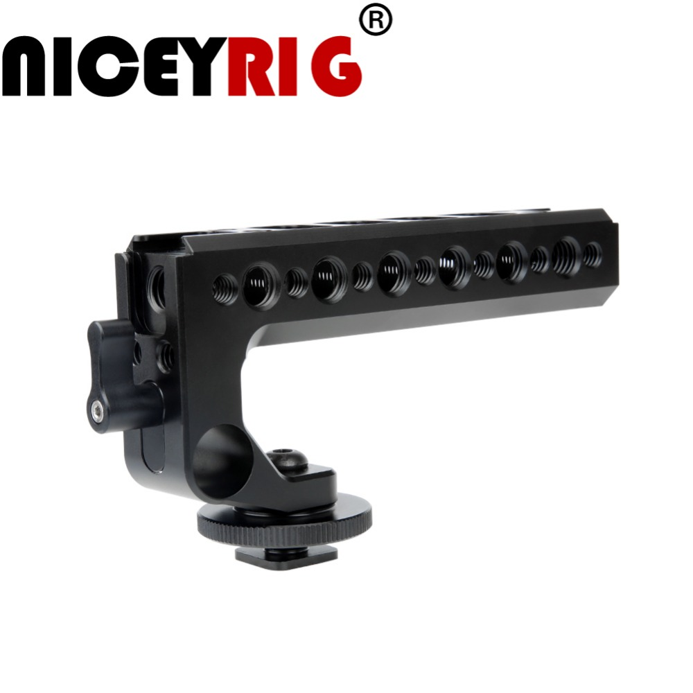 NICEYRIG Camera Handle Top Handle Cheese Handle DSLR Camera Cage Top Handle with 15mm Rod Hole