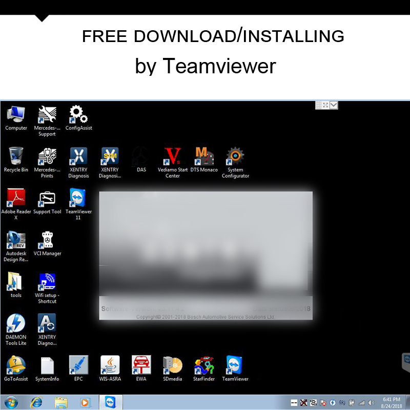 2018 12version latest version MB STAR C4 sd Software epc das wis free  download Online Installation Activation by TeamViewer