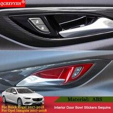 QCBXYYXH автомобильный Стайлинг 4 шт./лот внутренняя ручка двери рамка внутренняя накладка на дверь блестки Крышка для Buick Regal Opel Insignia