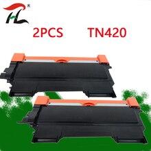2 قطعة لأخيه TN420 TN450 TN2250 420 مسحوق حبر متوافق خرطوشة الأسود TN2210 TN2260 TN2215 للطابعات MFC 7860DW DCP 7060D