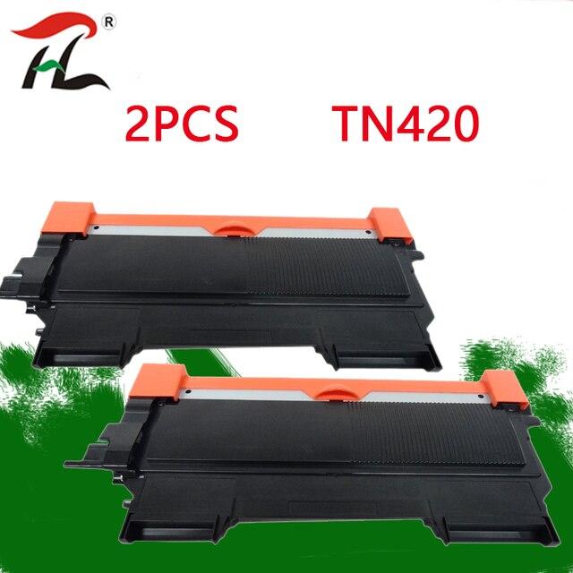 2 pièces Pour Frère TN420 TN450 TN2250 420 Compatible Cartouche De Toner Noir TN2210 TN2260 TN2215 pour Imprimantes MFC 7860DW DCP 7060D