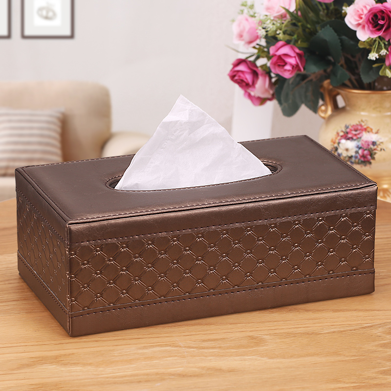 Fashion PU Leather Tissue Box Cover Paper Car Napkin Holder Case Organizer Bag