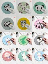 Panda del fumetto del Coniglio Maiale Modello Del Gatto Rotondo Mousepad 200x200MM 11 stile Animale Del Mouse Pad di Scegliere Per Il Regalo/Gioco/ufficio Tablet Stuoie
