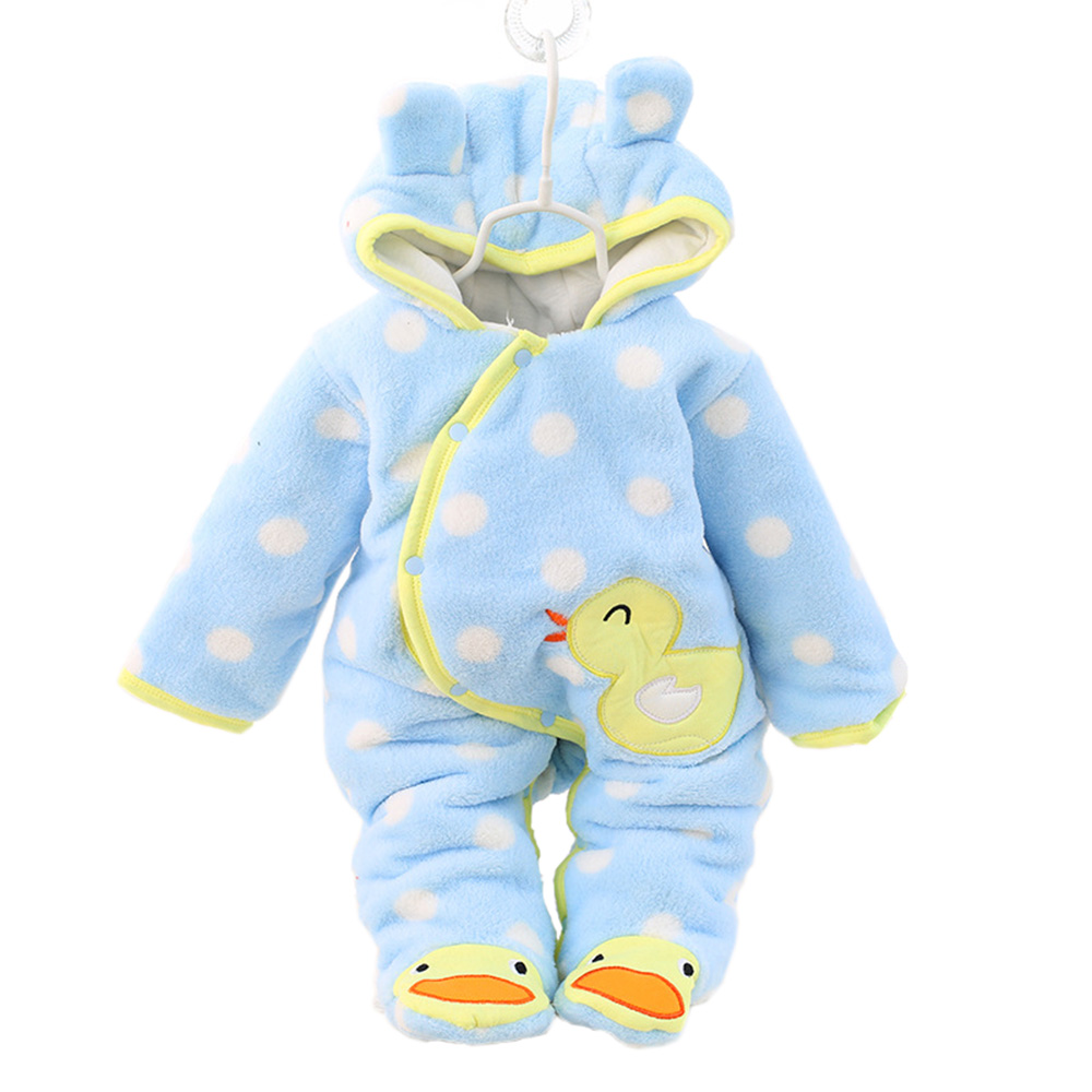 Winter Baby Warm Outwear Cute Newborn Girls Clothes Thick Fleece Overalls for Children Rabbit 3 Colors Baby Rompers CL0432 baby clothes baby rompers winter christmas costumes for boys girl zipper rabbit ear newborn overalls jumpsuit children outerwear