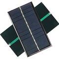 Портативный Мини Солнечная Панель 6 В 1 Вт Sunpower DIY Модуль Painel солнечных Элементов Системы Для Солнечной Лампы Игрушки Батареи Телефон Зарядное Устройство 110*60 мм