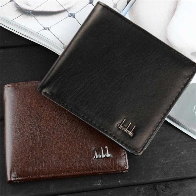 2018 homens carteiras novo design bifold negócios carteira de couro id titular do cartão de crédito bolsa bolsos dólar preço superior carteira