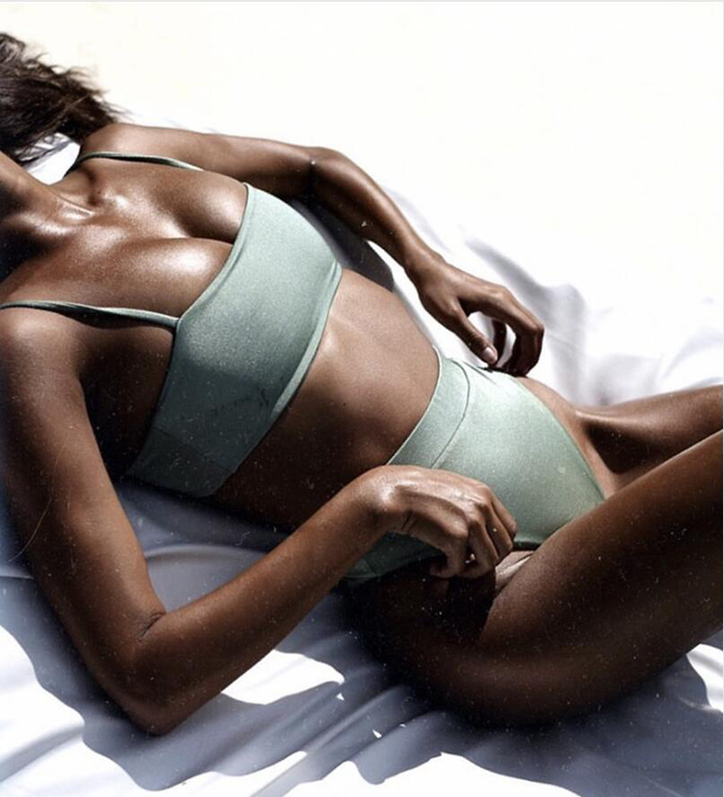 HTB1VpigX4rvK1RjSszeq6yObFXaj ZTVitality Sexy Bikinis Solid Push Up Bikini 2019 Hot Sale Padded Bra Straps High Waist Swimsuit Swimwear Women Print Biquini XL
