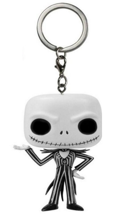 The Nightmare Before Christmas Jack Skellington Keychain Figure Collection Model Toys Key Chain with Retail Box