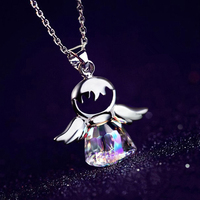 2017 Brand New Guardian Angel Crystal From Austrian Maxi Necklace Collier Wholesale Fashion Jewelry For Women