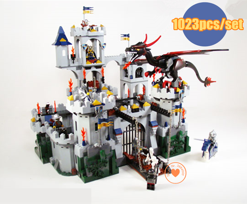 цена на New Castle King`s Siege fit legoings Castle military figures soliders figures model Building Blocks Bricks Toy 7094 kid gift set