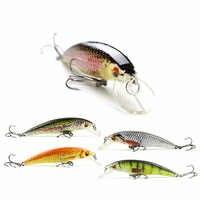 8cm/6.9g New Minnow Fishing Lure Realistic Fish Bait Unique Body Texture Fishing Tackle Wobbler Pesca 5 Color Options HML12B