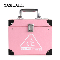 Pu Leather Toiletry Bag Portable 2 Stes Make up Cosmetic Set Beauty Case Toiletry Bag For Women Lady Makeup Tool Kits Wiht Lock