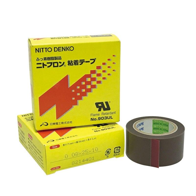 NITOFLON PTFE Seal Tape T0.08mm*W25mm*L10m Japan NITTO DENKO Waterproof Single Sided Tape 903UL