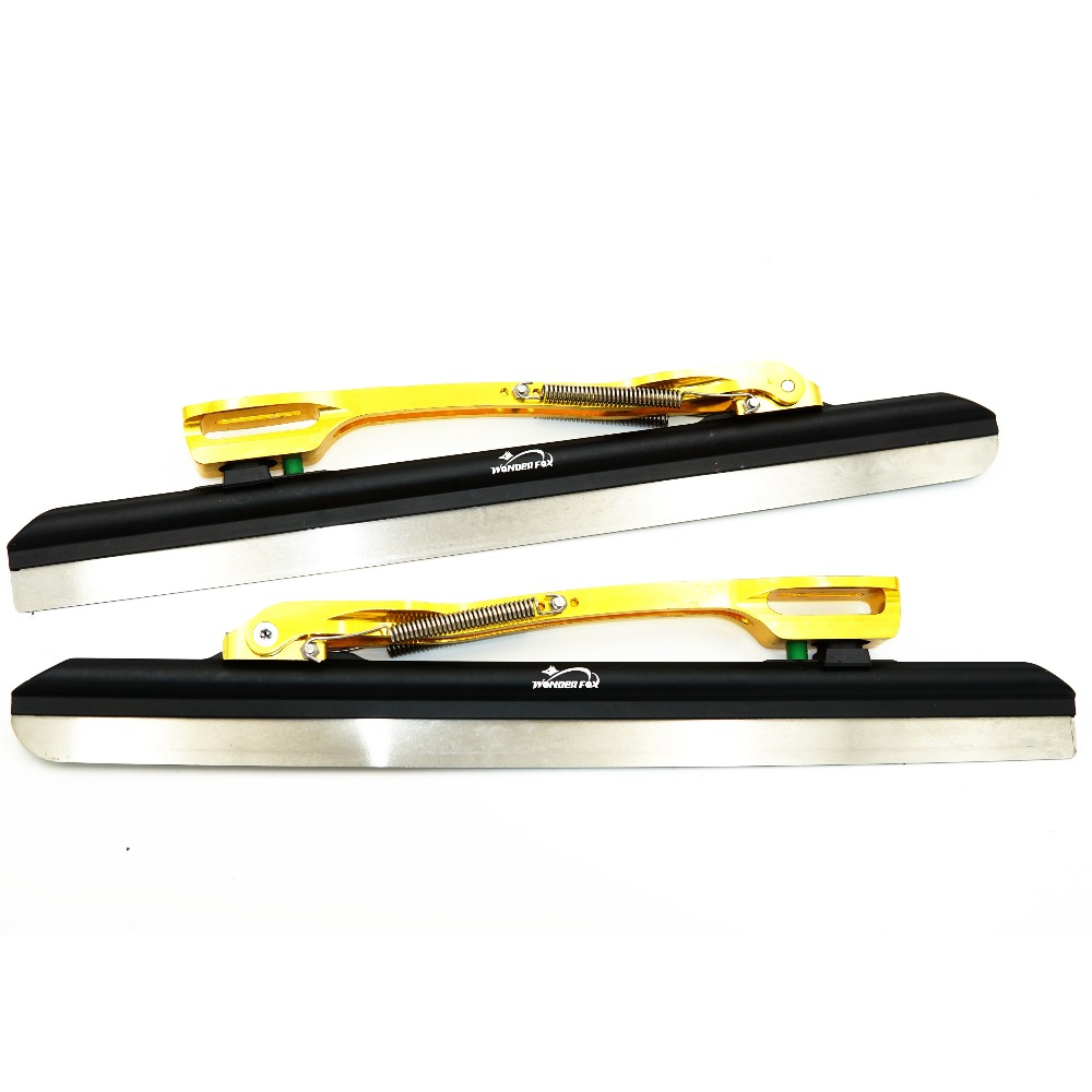 Professional 7005 aluminum alloy Tube Clap long track ice Skating blade 64HRC Dislocation Skate Shoes Knife 1.1mm frame bstfamly short track speed skating ice blade 64 degrees maple dislocation inline skate roller skating shoes 380 410 430mm q02