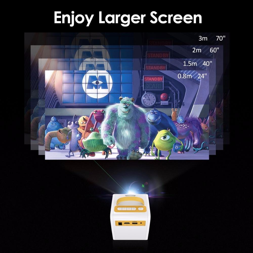 Excelvan Q2 MINI Projector 700 Lumens Children Education Children's gift Parent-child Portable Projector Mini LED TV Home Beamer (5)