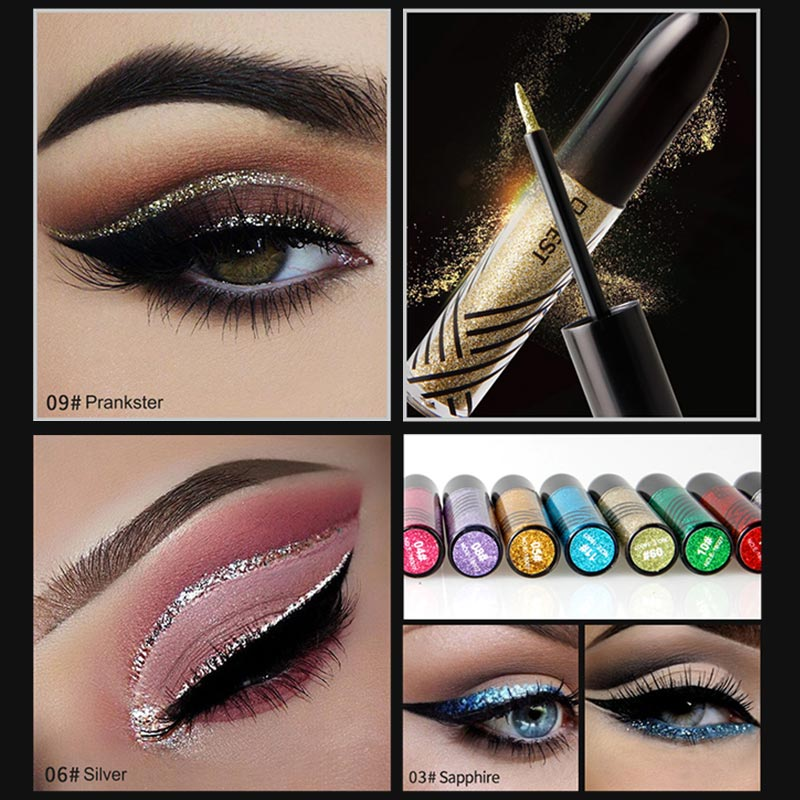 Beauty Essentials 2 In 1 Eye Makeup Kit Waterproof Long Lasting Shimmer Shine Eye Shadow Sticker Eyes Glitter Eyeshadow Cosmetics Beauty Makeup 100% Original Back To Search Resultsbeauty & Health