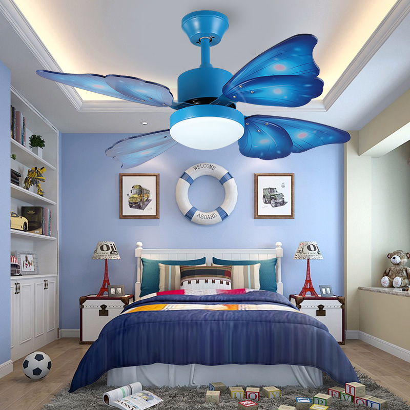220v Modern  Creative Butterfly Ceiling Fans With Lights Home Decorative Room Fan Lamp   Ceiling Fan Remote Control