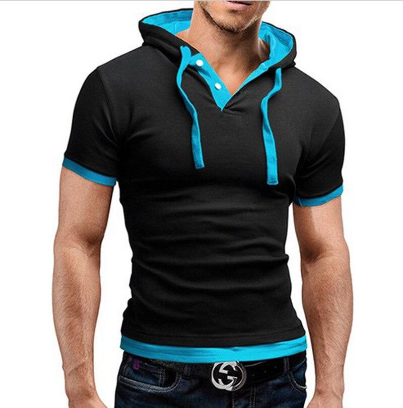 Men's Hooded Short Sleeve   Polo   Shirt