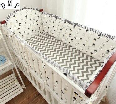 5PCS Cartoon Baby Cot Bumper Bedding Sets For Kids,Baby Girl Bedding Set Kit Berço,include(4bumper+sheet)
