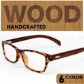 Wood Vintage Eyeglasses Frames Men Fashion Eye Glasses leopard Frame Glasses Women Oculos De Grau Feminino