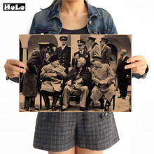 La II Guerra Mundial foto vintage cartel de papel de Kraft de artesanías arte mural adhesivo pintura para sala de estar o bar-café Café arte decoración 42x30cm GGB079