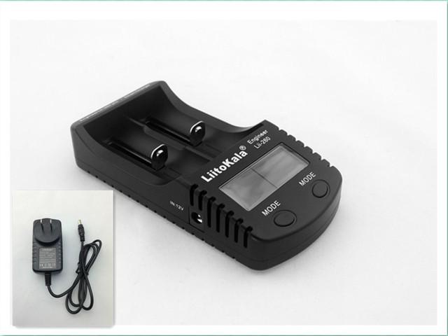 LiitoKala Lii-260 Carregador de Bateria para 18650 26650, tela lcd capacidade da bateria/resistência interna/tensão + Free grátis