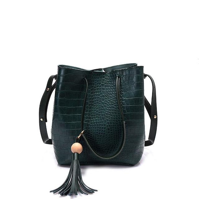 2017 luxury Designer bucket Bags Handbags Women Famous Brands Alligator leather bags women shoulder bag Ladies Bag Sac A Main