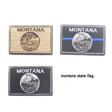 Embroidered Patches United States Montana State Flag Patch Tactical 3D National Flags Army Armband Badge embroidered patches united states new york state flag patch tactical 3d national flags army armband badge