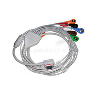 Compatible with GE SEER Light Holter Patient Cable/Leadwires, 3 Channel (7 Ld), AHA ,