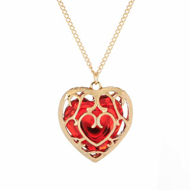 Heart Jewel Pendant Necklace
