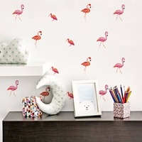 Yanqiao Nordic Style Flamingo Bedroom Study Room Background Wall Sticker Art Mural Living Room Kids Room Kindergarten Decor