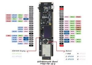 Image 3 - LILYGO®TTGO t controller ESP32 WROVER 4MB SPI Flash y 8MB PSRAM 0,96 OLED Botón de cinco vías 18650 soporte de batería