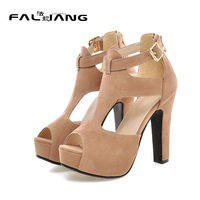 Gladiator Retro Platform Big Size 11 12 Women High Heeled Shoes Solid 12cmSuper High Thin Heels