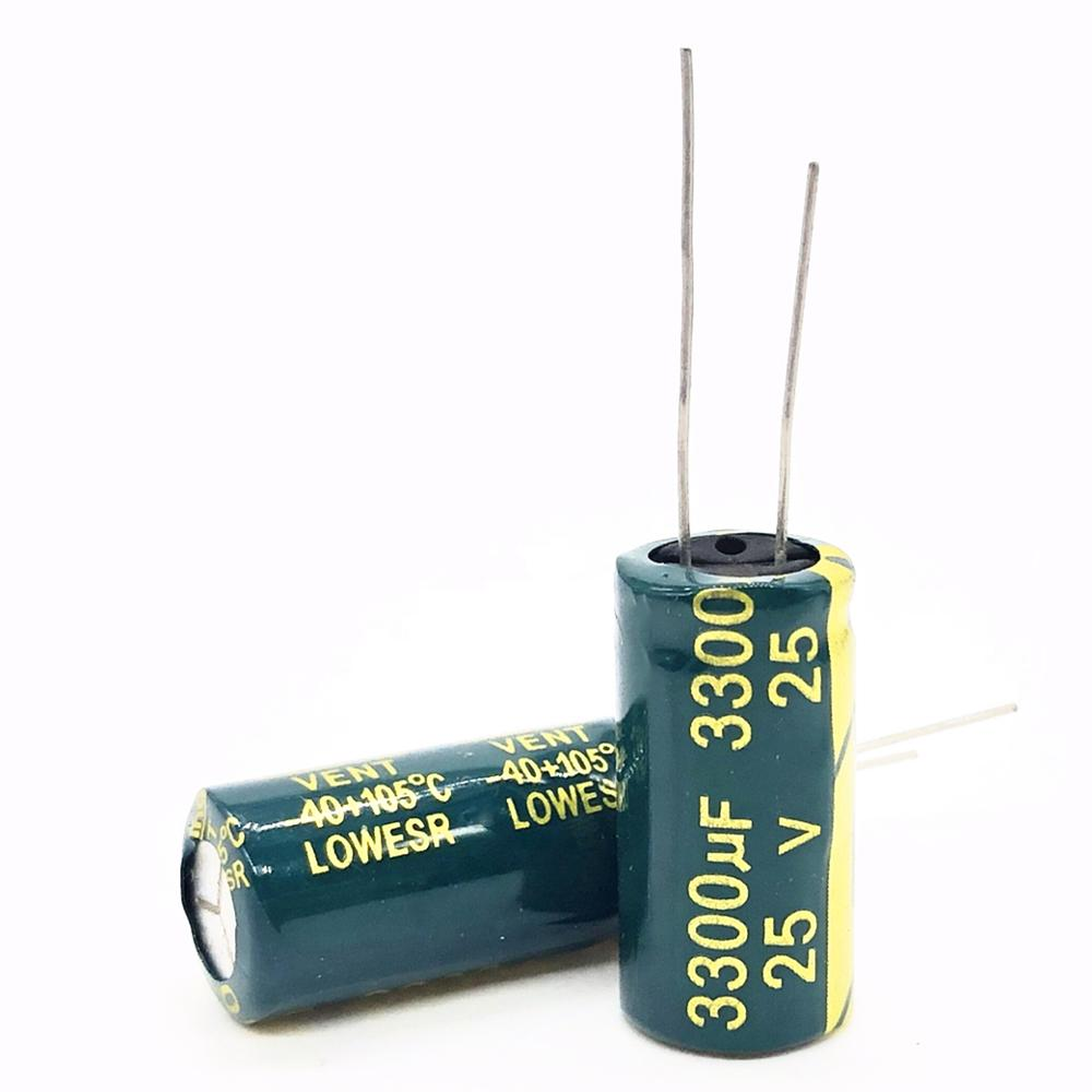 3pcs/lot 25V 3300UF 13*25 High Frequency Low Impedance Aluminum Electrolytic Capacitor 3300uf 25v 20%