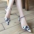 La boda de la mujer zapatos de tacones bajos zapatos de punto del dedo del pie zapatos bombas sy-753