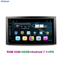 Aoluoya IPS 2GB RAM 32GB ROM Quad Core Android 7.1 CAR DVD player For Toyota Venza 2009 2013 Radio GPS Navigation multimedia DAB