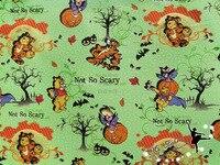 Kabak Pooh Ayı Karikatür Cadılar Bayramı Pamuk Dikiş Kumaş DIY El Yapımı Malzeme Ev Tekstil Patchwork Doku Tilda Bebek 100*150 cm