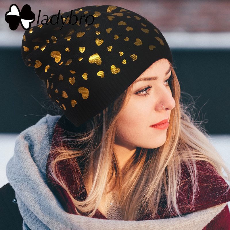 Ladybro Women Wool   Beanie   Cap Female Headgear   Skullies     Beanies   Winter Hats For Girl Ski Cap Casual Lady Warm Knitted Hat Fashion