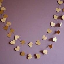 Сердце гирлянды Сельский свадебные коричневый крафт и кот сердце баннеры Люкс Baby Shower День рождения украшения