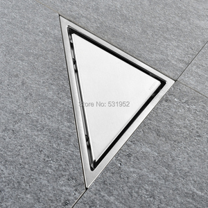 Image 3 - משולש Invisible ניקוז רצפת מרפסת חדר אמבטיה ניקוז רצפת דאודורנט נסתרת סוג להכניס אריח מקלחת ניקוז ניקוז מהיר