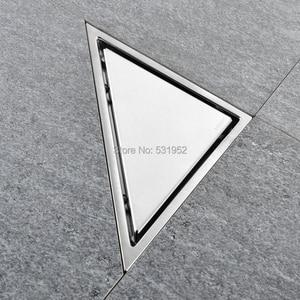 Image 3 - Triangle Invisible Floor Drain Balcony Bathroom Corner Floor Drain Deodorant Hidden Type Tile Insert Shower Drain Fast Drainage