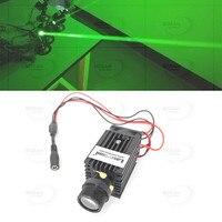 שומן Beam הירוק 532nm 50 mW לייזר דיודה מודול שלב תאורה 3VDC + מאוורר + הר