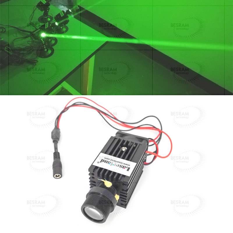 532nm 50mW Fat Beam Green Laser Diode Module Stage Lighting 3VDC + Fan + Mount green red laser stars light stage projector green 50mw red 50mw
