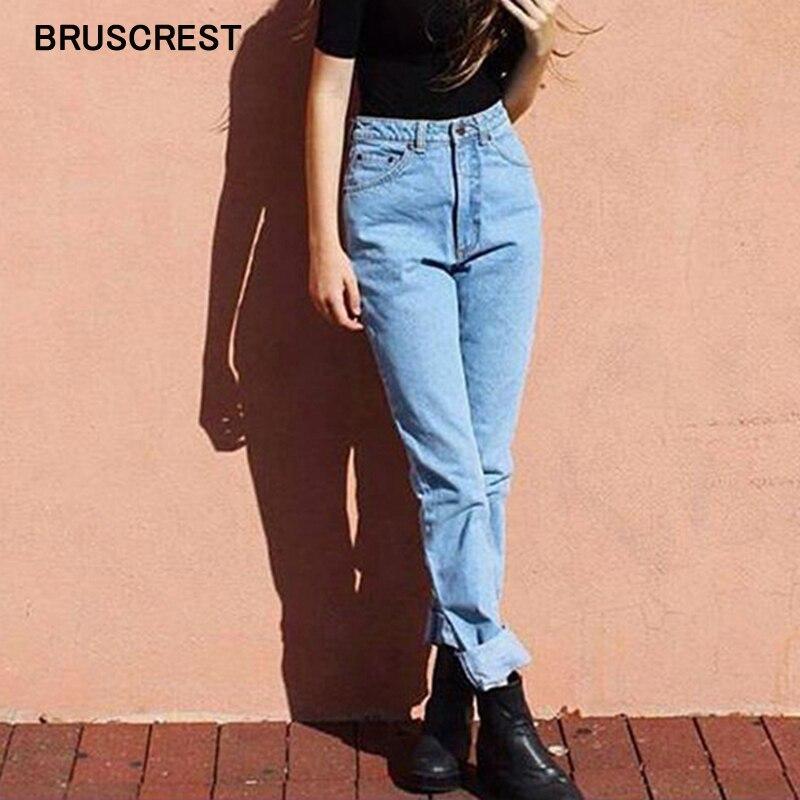 Летние черные джинсы с высокой талией, облегающие джинсы для женщин в стиле бойфренд, синие винтажные джинсы с принтом, женская уличная одеж...