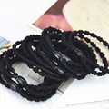 Hot Sale  Women's Headwear,Simple Style Hair ring bands,Bamboo Shape, Black Elastic Hair Bands For Girls