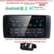 9 «2 din Автомагнитолы gps Android 8,1 NO-DVD плеер для Mercedes Benz ML W164 ML300 GL X164 GL320 350 420 450 500 R W251 280 DVR BT