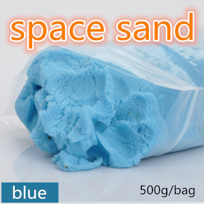 1bag 500g/bag dynamic educational Amazing No-mess Indoor Magic Play Sand Children toys Mars space sand
