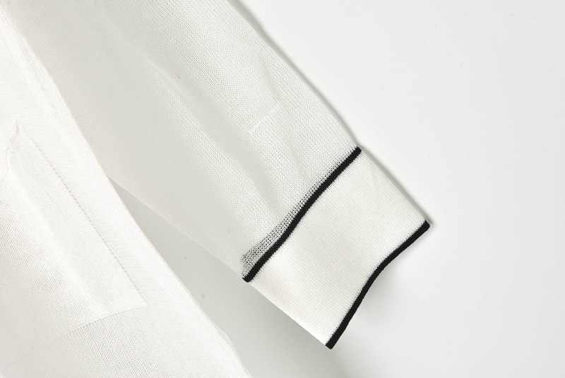 Новый осенний 2019 модный весенне-летний тонкий черно-белый вязаный кардиган женский полый длинный сексуальный свитер кардиганы, Пальто Feminino