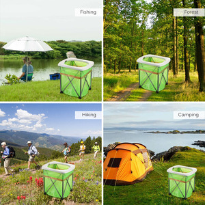 Image 5 - Inodoro plegable portátil para exteriores, silla para asiento de inodoro ligera y cómoda para acampar, senderismo, Kits de viaje para exteriores